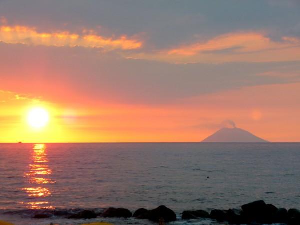 Calabria-Stromboli-Sonnenuntergang