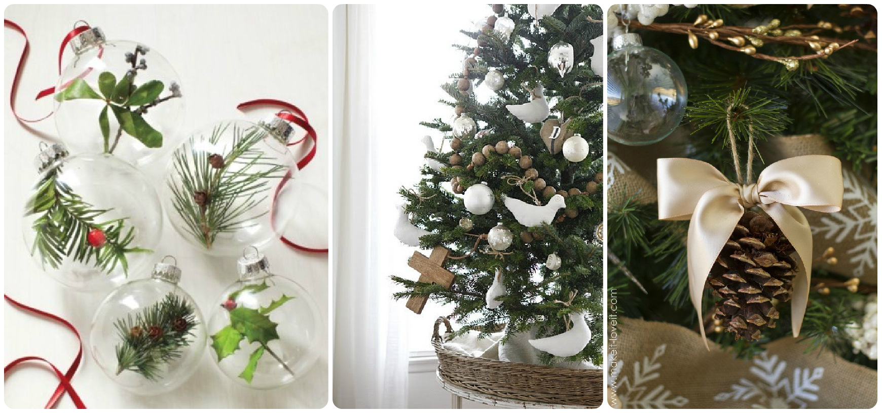 natural christmas decoration christmas tree natural ornaments